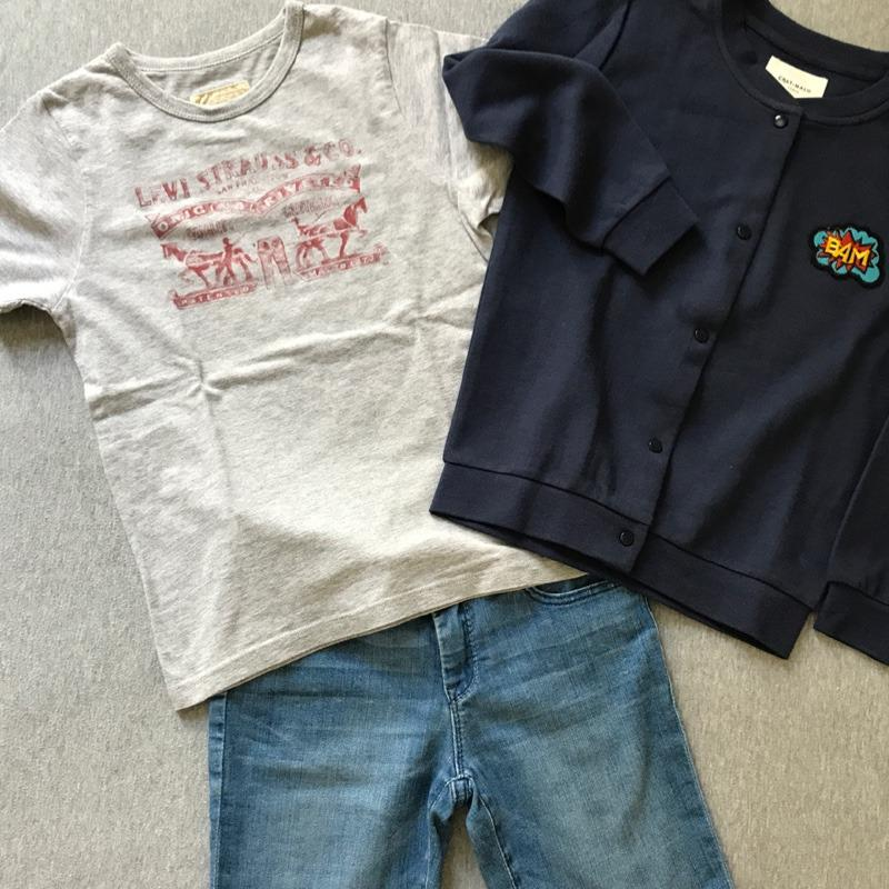 La tenue de vacances de Saul : Le teddy neuf Chat-Malo, le t-shirt de 2nde main & le bermuda de 2nde main